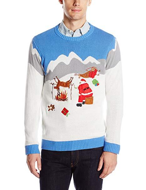 Foute kersttrui Walmart met coke snuivende Santa uit de schappen
