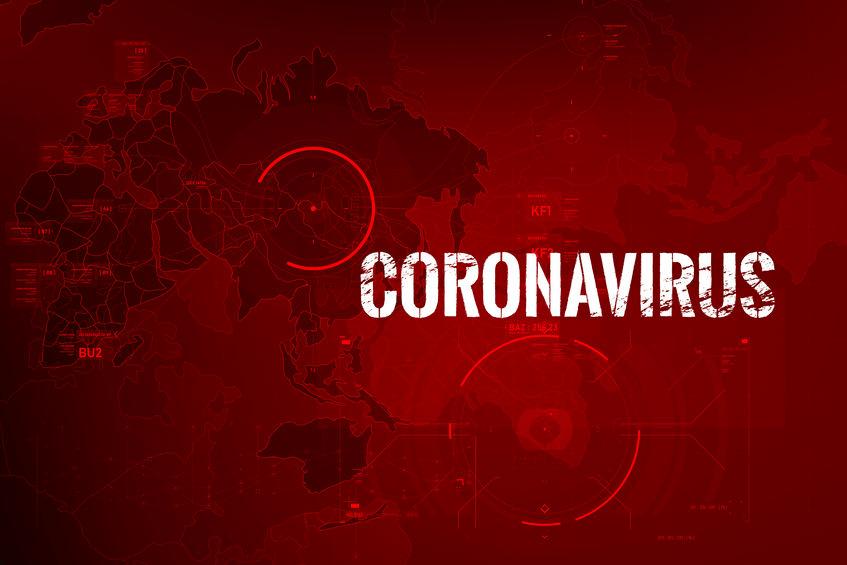 coronavirus wereldkaart