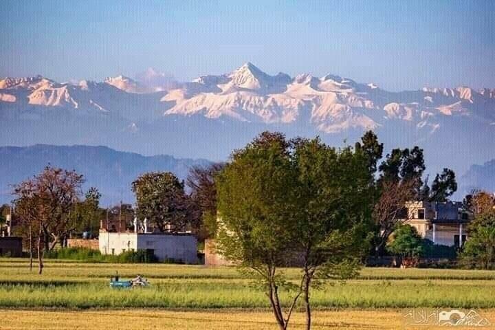 Himalaya gebergte goed zichtbaar