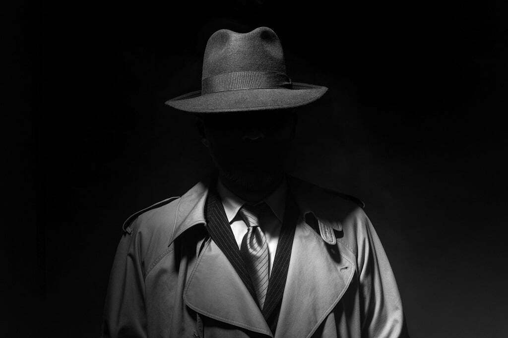 Man in het duister