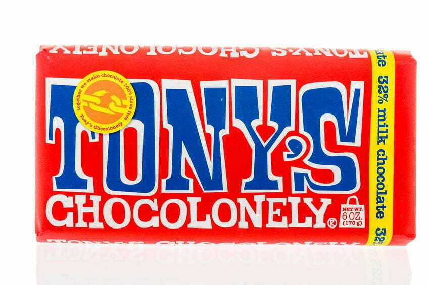 tony's chocolonely aangehouden