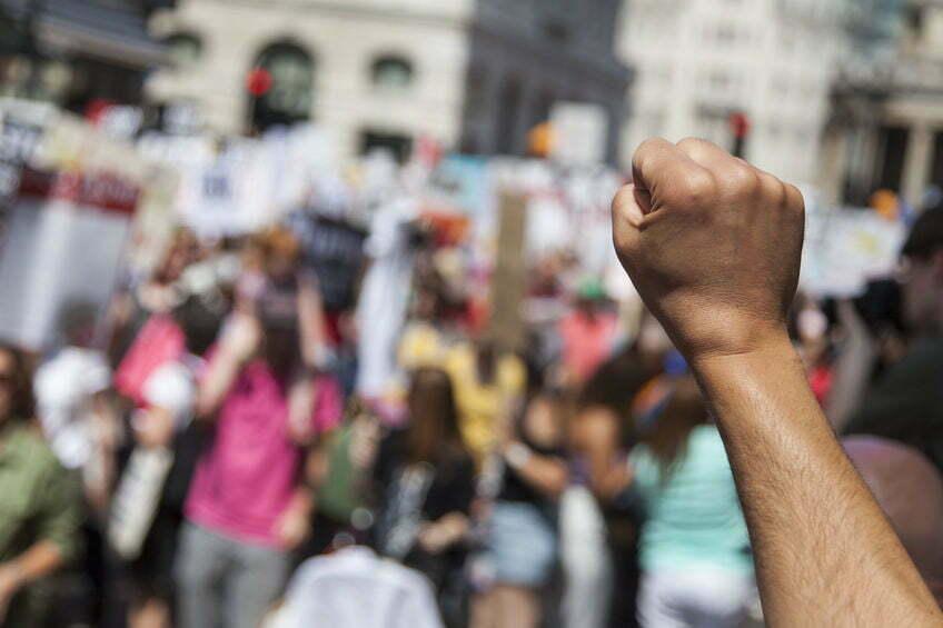 coronaprotest Den Haag