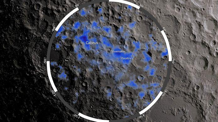 Water gevonden op de maan